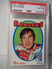 1971 Topps Jim Neilson Graded PSA EX-MT 6 Hockey Card #112 NHL Collectible