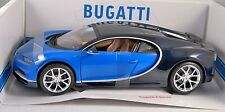 BUGATTI CHIRON in Blue / Black 1/18 scale model BURAGO