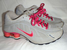 NIKE Grey & Pink Shox Athletic Shoes Y 6