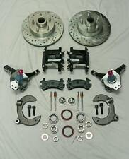 Mustang II Stock Front Disc Brake Kit w/ Drilled Rotors & Black Wilwood Calipers