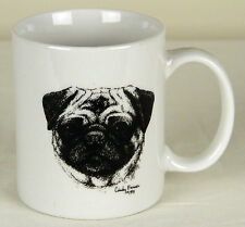 Pug Dog Coffee Cup Mug Cindy Farmer Rosalinde 1991