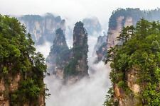 View On Zhangjiajie National Forest Park Hunan Province China Poster 18'' X 12""