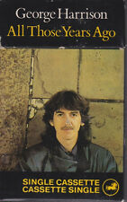 George Harrison All Those Years Ago UK Cassette Single With Slip Cover