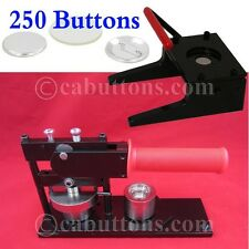 "1"" inch Tecre Standard Heavy Duty Button Maker Machine + Punch + 250 Parts"