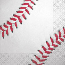 BASEBALL LUNCH NAPKINS (16) ~ Sports Birthday Party Supplies Serviettes MLB