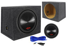 "Alpine Type-R SWR-12D4 12"" 3000w DVC 4-Ohm Car Subwoofer + Hatchback Sub Box"