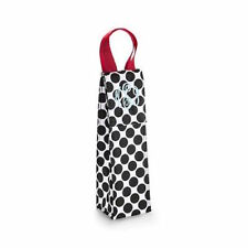 Thirty one perfect bottle thermal tote bag wine cool 31 gift Black Spotty dot c