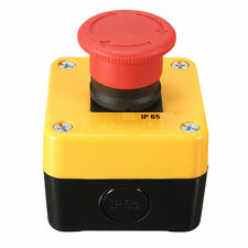 600V 10A Trun to Release Waterproof Red Sign Emergency STOP Push Button Switch