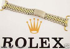 ROLEX JUBILEE ARMBAND STAHL / 14ct GOLD - GEFALTET 1960er - 55 J - 20mm GMT DATE