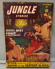 Summer 1949 Jungle Stories Pulp Magazine The Silver Witch Ki-Gor NO Reserve