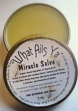 Miracle Salve - What Ails Ya  -  2 Oz - 100% Organic Oils, Natural Herbs Unisex
