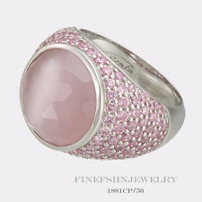 Authentic Ti Sento Milano Silver Cat's Eye Fuchsia Ring Size 7.5  56 1881CP/56
