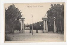 Madrid Entrada Del Retiro Spain 1908 Postcard 311a
