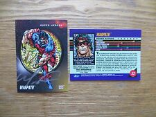 1992 IMPEL MARVEL UNIVERSE 3 WARPATH CARD SIGNED MARK 'TEX' TEXEIRA,WITH POA