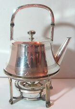 Vintage BSCEP Silver Plate Tea Pot On Warmer Stand #5729