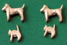 OO figures (animals) - 2 White-metal Dogs + 2 Cats - Springside A2 - free post