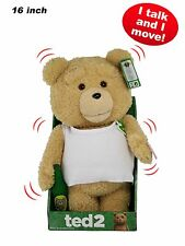 "16"" Ted 2 Animated Moving Talking Plush in Tank w Explicit Language + Free S&H"
