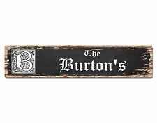 SP0870 The BURTON Family name Sign Bar Store Shop Cafe Home Chic Decor Gift