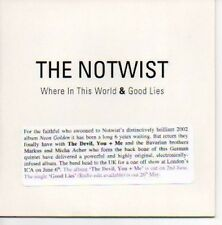 (O416) The Notwist, Where in This World - DJ CD