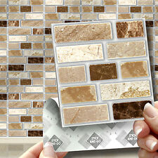 18 Peel, Stick & Go Stone Tablet  Self Adhesive Wall Tiles Kitchens & Bathrooms