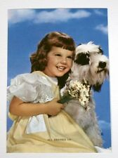 VTG 1950s B&B CALENDAR ART LITHOGRAPH PRINT GIRL WITH DOG ALL DRESSED UP