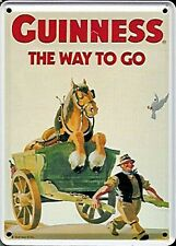 Guinness Horse & Cart metal postcard / mini-sign   (hi)
