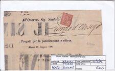 A0081 - DE LA RUE TORINO 2 CENTESIMI  ISOLATO SU STAMPE - GIORNALE