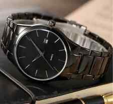 Vintage Luxury Black Men Date Stainless Steel Sport Military Army Quartz Watch F