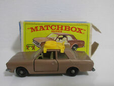 FORD CORTINA W/ ROOF BACK METALLIC BROWN BRAUN MATCHBOX SERIES No.25d OVP BOX