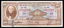 El Banco de Mexico 100 Pesos 20.08.1958 Serie HE. P-55g XF