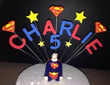 CAKE TOPPER ANY NAME OR AGE SUPERMAN