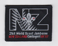2007 World Scout Jamboree NEW ZEALAND / NZ SCOUTS Contingent Patch