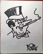 Bob Kane Penguin Vintage Pen Ink Hand Signed Drawing