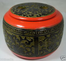 VINTAGE ASIAN CHINESE OR JAPANESE PORCELAIN/CERAMIC JAR,BOWL,TEA CADDY,FLORAL