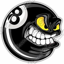 Eight Ball Angry Black Billiard Pool Cue Car Bumper Vinyl Sticker Decal 4.6""