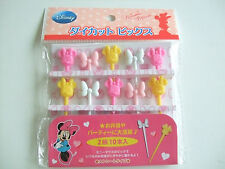 Disney Minnie Mouse Food Picks Japanese Bento Accessories/10pcs