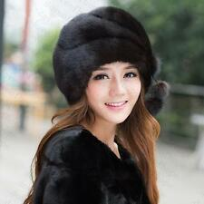 Winter Women Real New Mink Fur Hat Cap Headgear Beanie Beret QS 0007.2