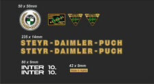 STEYR-DAIMLER-PUCH INTER 10 FRAME DECAL SET GOLD