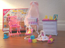 GLORIA DOLL HOUSE FURNITURE SIZE BABY HOME NURSERY W/GYM PLAYSET FOR BARBIE