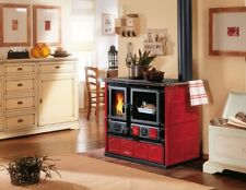 "Wood Burning Cook Stove La Nordica ""Rosa Maiolica Bordeaux"" Cooking Range & Oven"