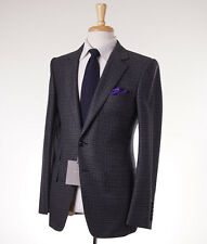 NWT $5700 TOM FORD 'Base V' Gray Check Wool-Cashmere Suit Slim 38 R (Eu 48)