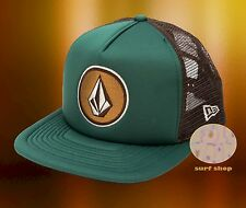 NEW Volcom Coast Cheese Emerald Green Snapback Trucker Cap Hat