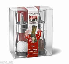 Cole & Mason 15,4 cm inverta flip acrylique et chrome salt & pepper mill gift set