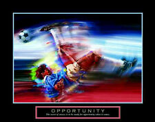 OPPORTUNITY Soccer Art Scissor Kick Motivational Inspirational POSTER Print