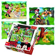 Trefl 4 in 1 35 + 48 + 54 + 70 PEZZI Girls Kid Mickey Minnie Mouse Puzzle