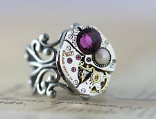 Mothers Ring Mothers Jewelry Steampunk 1 2 3 Birthstone Statement Custom Made