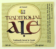 Big Rock Brewery TRADITIONAL ALE  beer label CANADA 341 ml