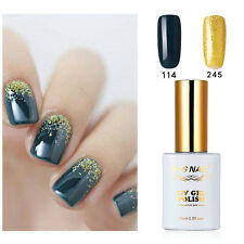 2 PIECES RS 114_245 Gel Nail Polish UV LED Sequined Varnish Dark Green 15ml New