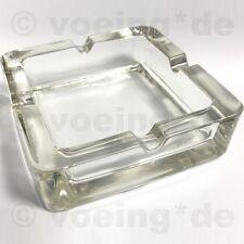 Edler Design-Aschenbecher aus Glas mit 4 Kerben 14x14 cm sehr stabil & stilvoll