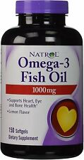 Omega-3 Fish Oil, Natrol, 150 softgels 1000 mg 1 pack